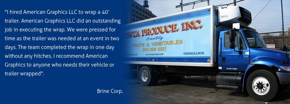 American Graphics LLC - Chicago Fleet Graphics